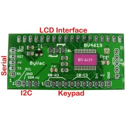 I2C & Serial LCD + Keypad Controller