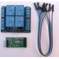 Serial Relay with Timer 4 way 10A for PC Microcontroller Raspberry Pi