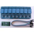 Serial Relay with Timer 8 way 10A for PC Microcontroller Raspberry Pi